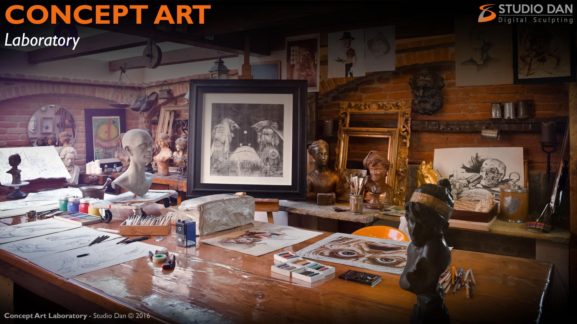 Concept Art – Studio Dan Digital Sculpting