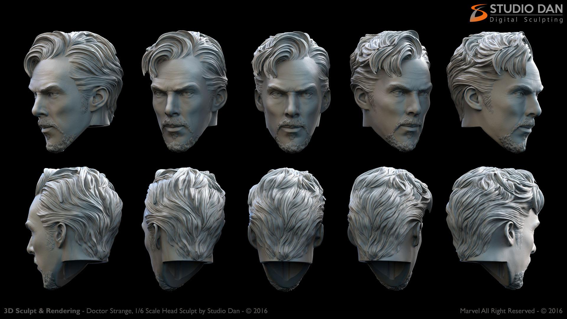 3D Head Sculpt 1/6 th scale Collectible Figure