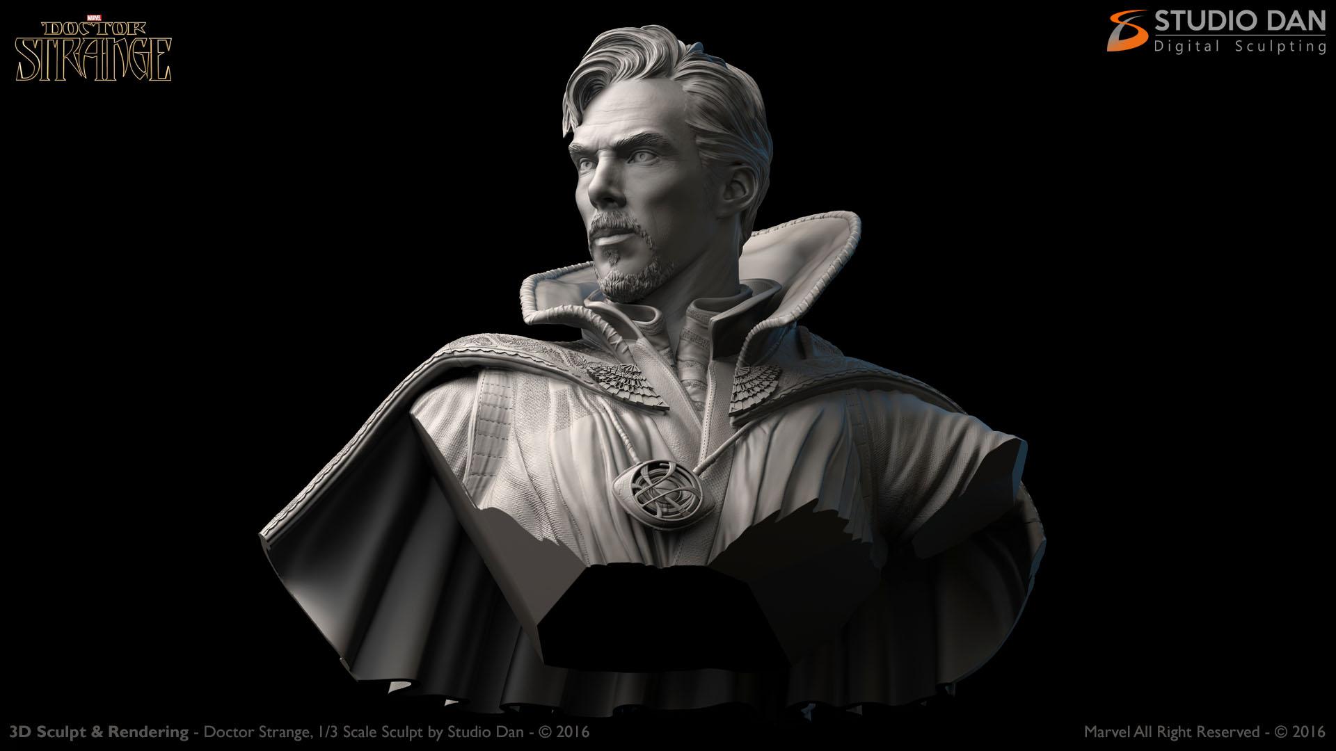 Concept 2 Model D >> 3D Head Sculpt 1/6 scale – Studio Dan Digital Sculpting